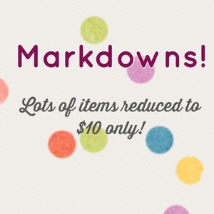 $10 items markdowns!
